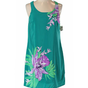 Old Navy XS Teal purple flower eyelet dress NWT